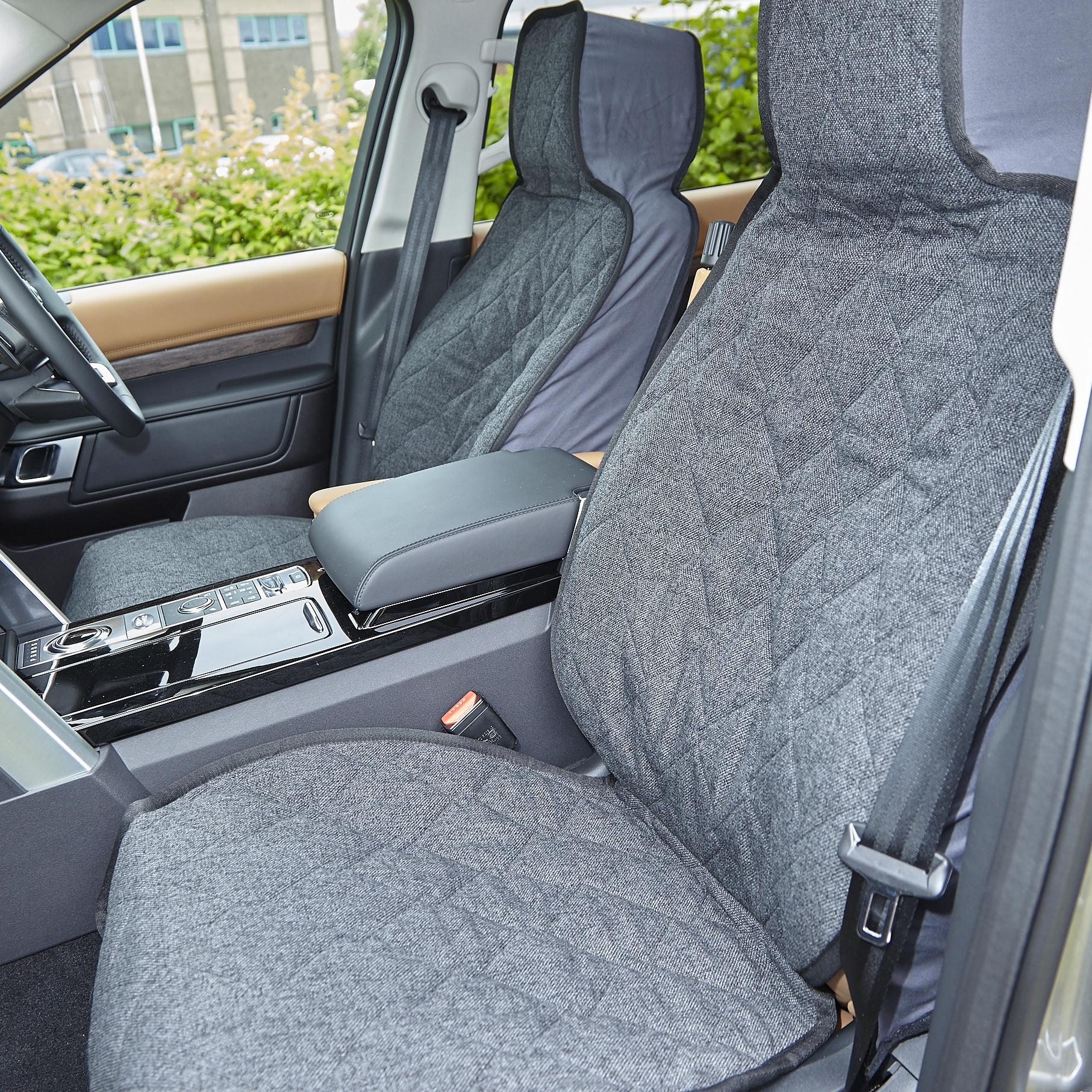 Onwards to fit Peugeot 5008 2017 Black Titan Waterproof Car Back Seat Cover