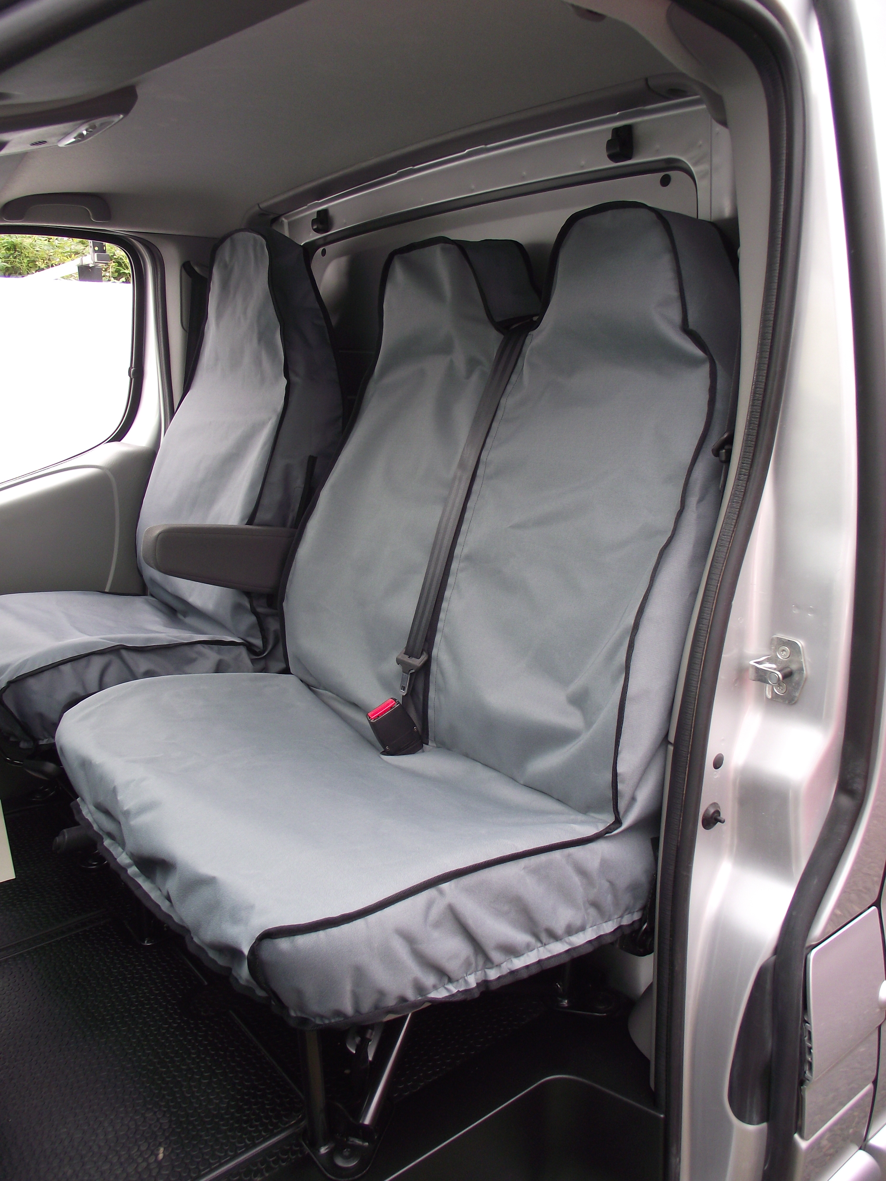Titan Waterproof Car Front Seat Covers with Armrest Holes to fit Skoda Superb 2016 Onwards Black